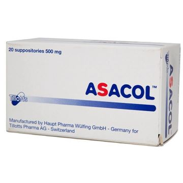 Picture of Asacol 500mg 20 Suppositories