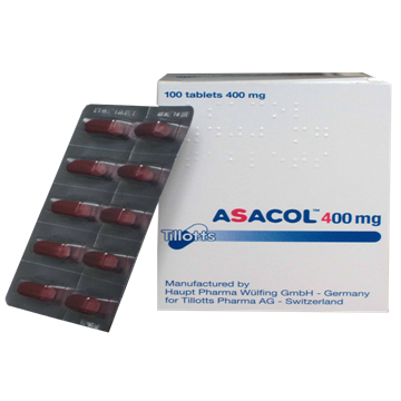 Picture of Asacol 400mg 100 Tablets