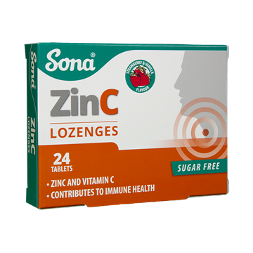 Picture of Sona Chewable Zinc+Vitamin C 24Tablets