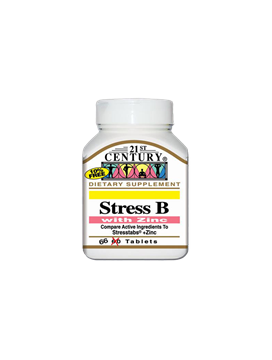 Picture of 21st Century Stress B+Zinc 66 Tablets