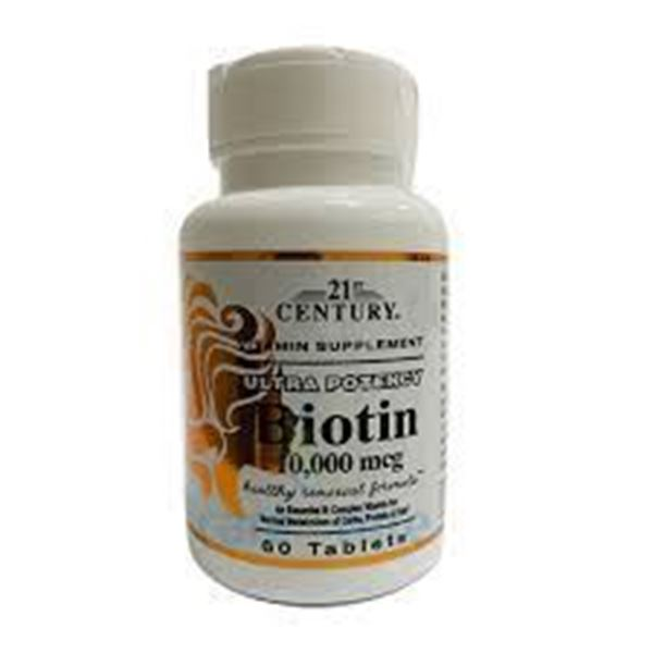 Picture of 21st Century Biotin 10000mcg 60 Tablets