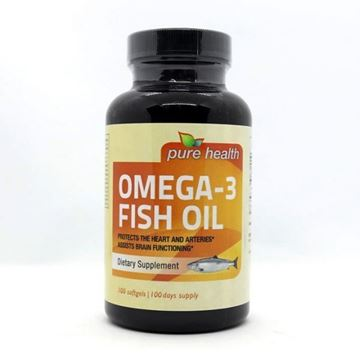 Picture of Pure Health Omega-3 Fish Oil 100 Softgels