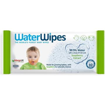 Picture of WATER WIPES WITH SOAPBERRY EXTRACT 60 WIPES