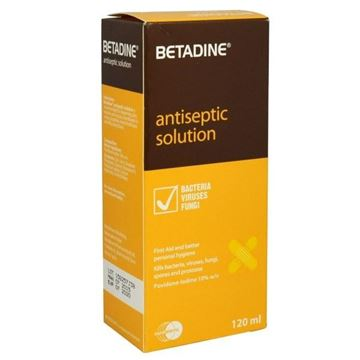 Picture of BETADINE ANTISEPTIC SOLN 120 ML