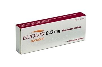 Picture of ELIQUIS 2.5 MG 60 TABLETS